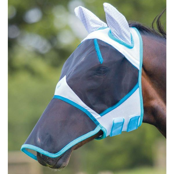 Bridleway Full Face Fly Mask with Ears and Nose